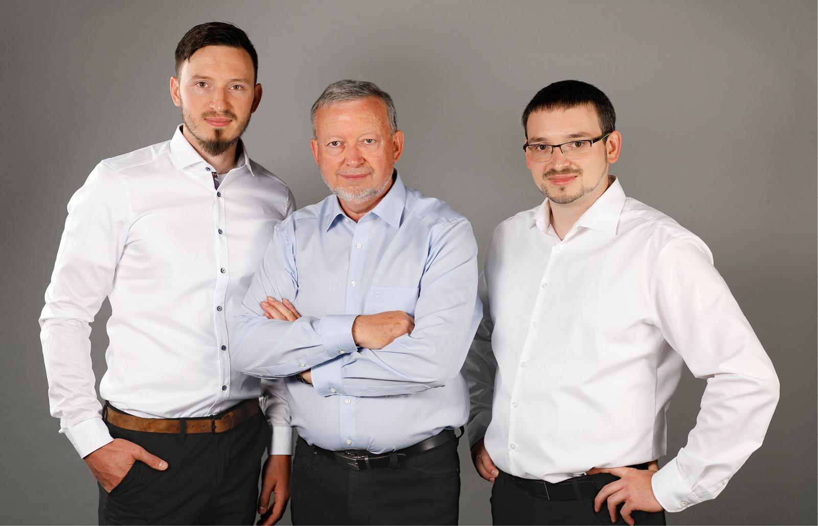 Hier sehen sie den Gründer Rolf Müller und seine Söhne: Thilo und Klaus Müller